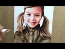 Портрет Анны Павага цветными карандашами Colored pencil portrait Time lapse video