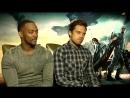 Интервью для MTV News в рамках промоушена фильма «Первый мститель Другая война» 2014