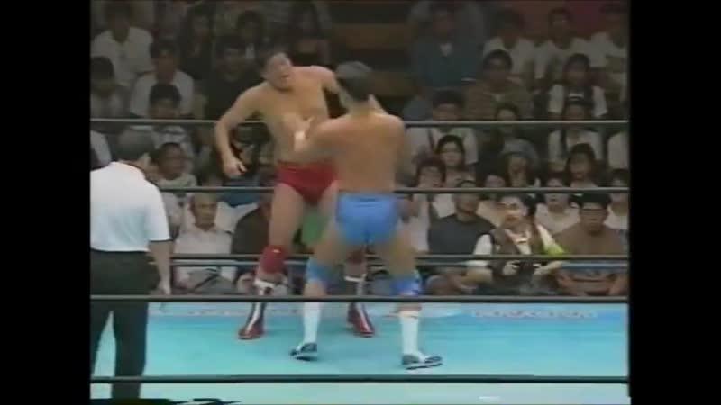 1995.08.19 - Akira Taue/Tamon Honda vs. Mitsuharu Misawa/Jun Akiyama [JIP]