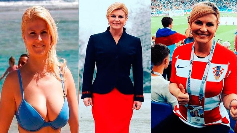 The most beautiful president in the world a football fan President Croatian