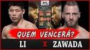 JINGLIANG LI vs DAVID ZAWADA Palpites , Previsões e Favoritos UFC CHINA BLAYDES x NGANNOU