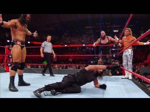 The Shield vs Braun Strowman Dolph Ziggler Drew McIntyre Tag Match - WWE Raw 8 October 2018