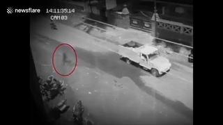 Ghost' caught on camera walking through traffic in the Philippines