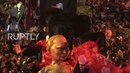 France: Giant Trump, Putin and Merkel join film icons at Nice Carnival