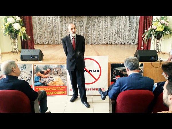 Юрий Бархоткин на собрании Сирийской диаспоры
