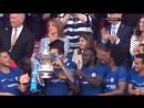 Olivier Giroud and FA Cup trophy