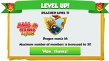 Clan Level Up! Reached Level 7 , Gameplay , Dragon Mania Legends Part 1234 HD