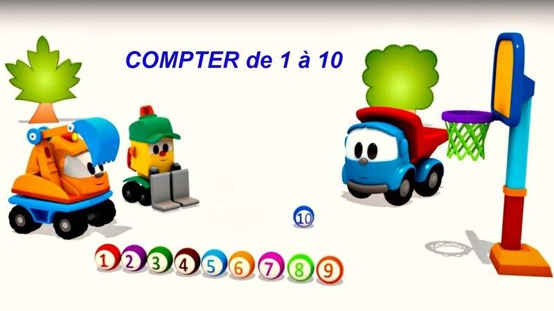 Léo le camion: chanson - compter de 1 à 10. Dessin animé éducatif