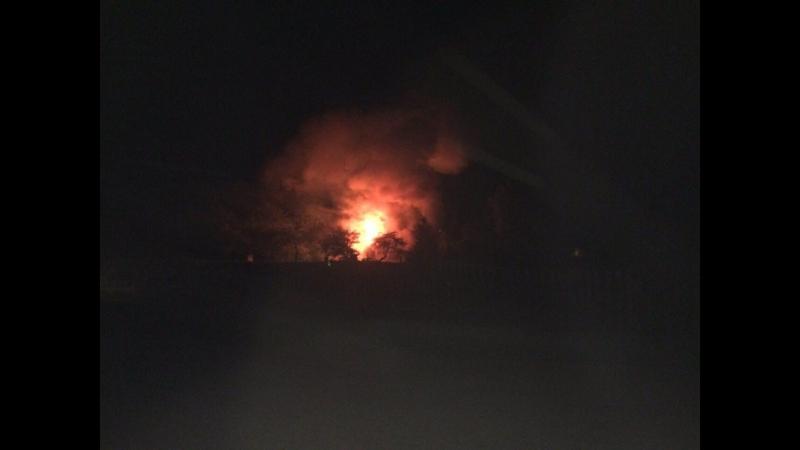 Очевидец прямо сейчас горит жилой дом в Кобринском районе аг Дивин