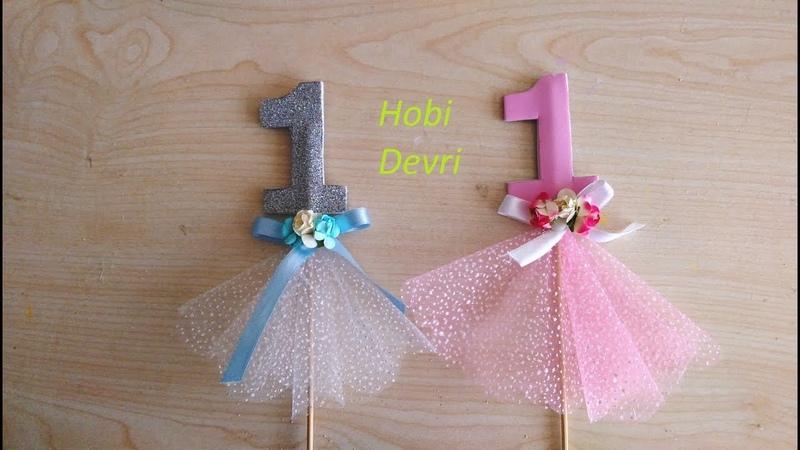 Birthday Decoration For Children - Çocuklar için Doğum Günü Dekorasyonu (1 Yaş Çubuk Hediyelikleri)