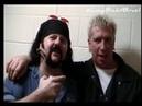 Limp Bizkit, Dimebag Darrell, Vinnie Paul e Staind no Backstage em 1998