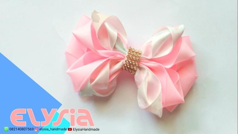 Laço Bella Cute Bella Ribbon Bow DIY by Elysia Handmade