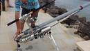 Câu cá tầm xa, cần máy tự chế của cần thủ câu cá biển