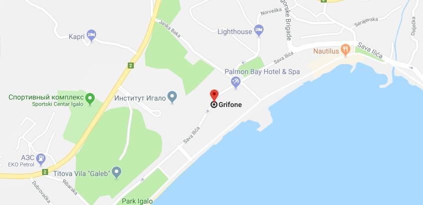 Отель Grifone Lux в Игало