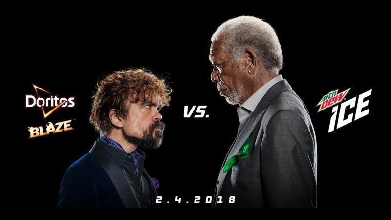 (2018) Commercial - Doritos Blaze vs Mountain Dew Ice ( Morgan Freeman vs Peter Dinklage) [Eng]