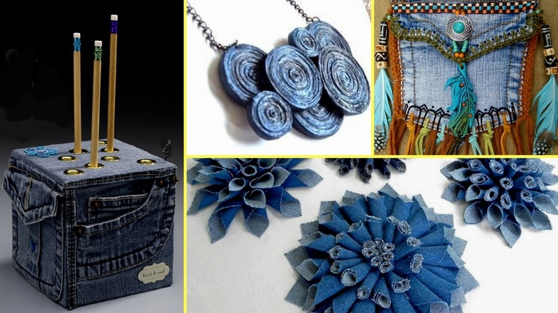 ❤36 Creative DIY Ways HOW TO REUSE OLD JEANS - Recycled Denim Craft Ideas❤