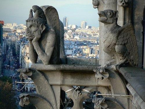 Детали архитектуры готических соборов Европы.