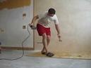 Монтаж OSB-плиты на бетонный пол