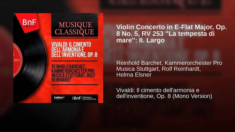 Violin Concerto in E-Flat Major, Op. 8 No. 5, RV 253 La tempesta di mare: II. Largo