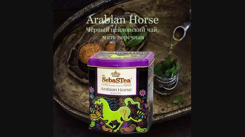 Черный чай с мятой Арабский скакун из Этнической серии