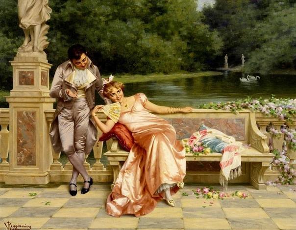 АВТОР САЛОННОЙ ЖИВОПИСИ VITTORIO REGGIANINI Vittorio Reggianini (1853-1938) родился на севере Италии в городе Модена. Он обучался в Академии Изящных искусств в Модене, где позже стал