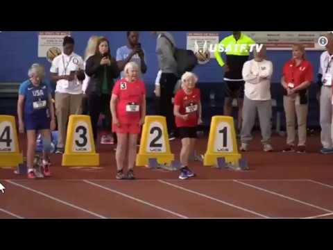 100-year-old runners set world records at USATF Masters Indoor Championships!