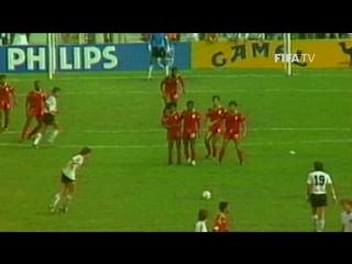 Гол Лотара Маттеуса в матче ФРГ - Марокко на ЧМ-1986