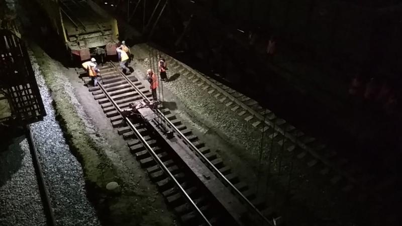 Демонтаж рельс на станции Пермь-2