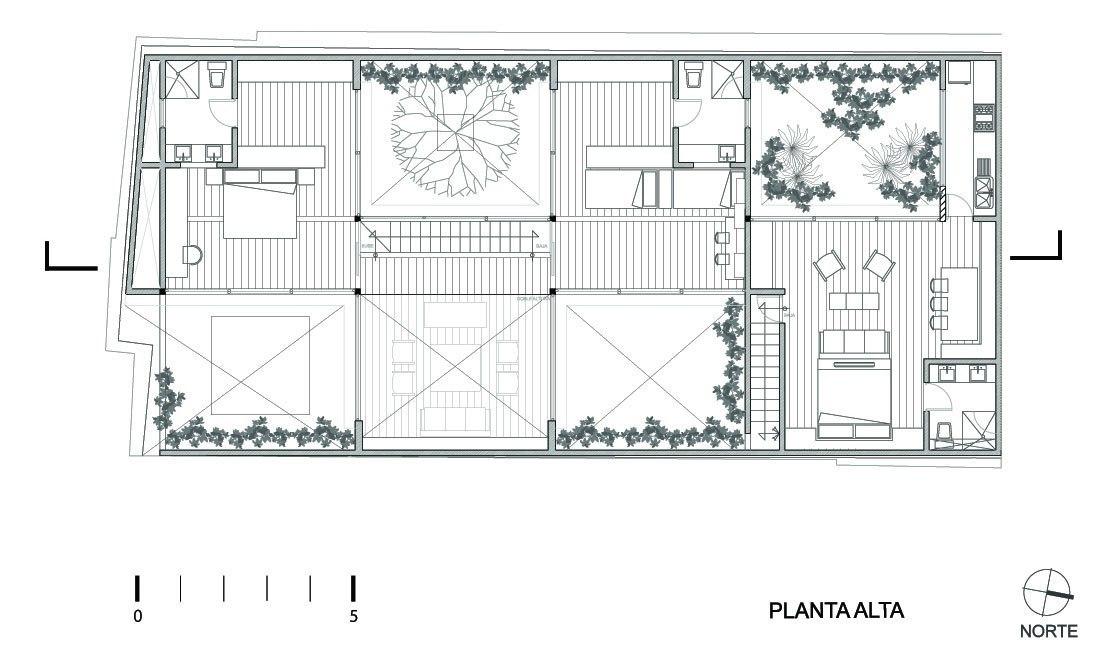 Дом с четырьмя внутренними дворами Андрес Стебельски Arquitecto