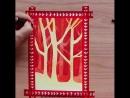 Стилизованный осенний лес пошаговое рисование