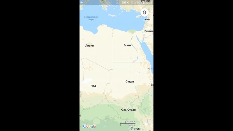 Картографическая проекция в гугл картах .