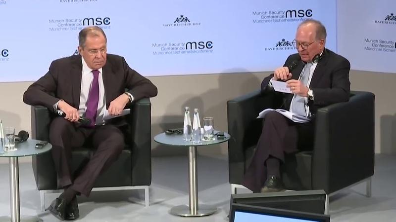 Лавров поставил на место журналиста Washington Post вызвав взрыв смеха на конференции в Мюнхене