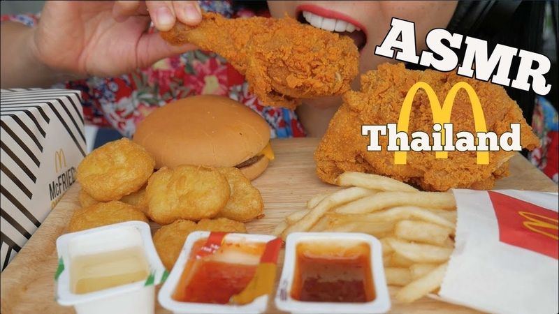 ASMR McDonalds *Thailand Spicy Fried Chicken Chicken Nuggets EATING SOUNDS NO TALKING SAS ASMR