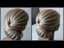 Легкий текстурный пучок.Красивые прически.Detailed training on hairstyles.