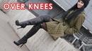 Nana's Gianmarco Lorenzi platform high heels over knee boots EU 36 5 US 7