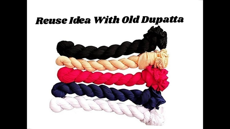 Reuse idea with old dupatta | Making scarf | Best out of waste