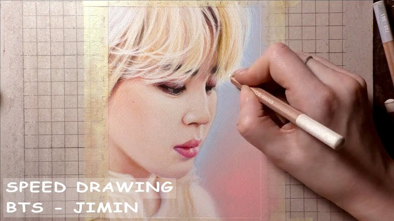 [SPEED DRAWING] BTS JIMIN / 방탄소년단 지민 - soft pastels