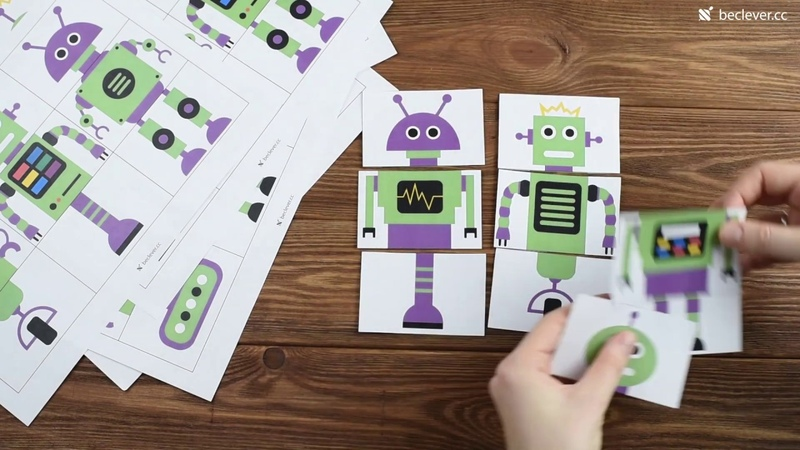 Собери робота. Игра для детей