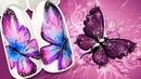 🦋 Акварельная Бабочка с Блёстками 🦋 Нежный Дизайн Ногтей Гель лаком к Летнему Маникюру Пошаговый МК