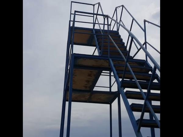 Прыжок с батута на курорте Соль Илецк