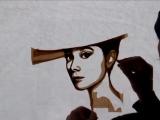 Портрет Одри Хепбёрн из скотча
