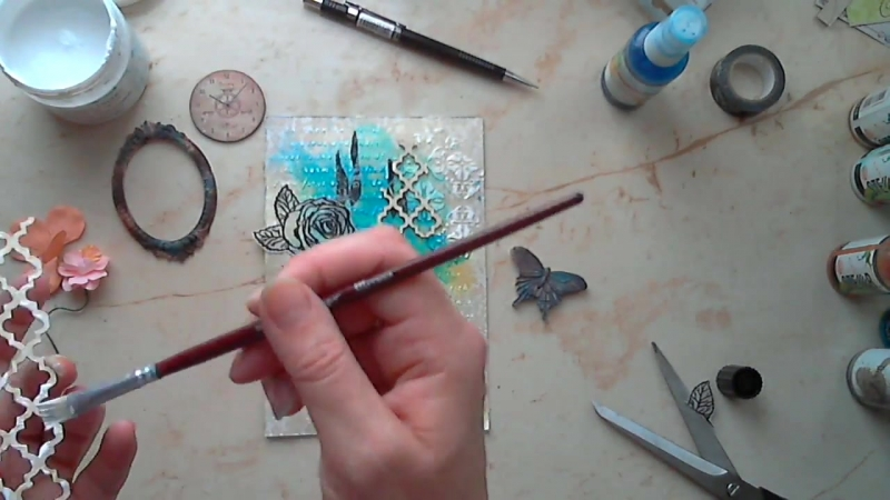Mixed Media Card Tutorial _ Открытка микс медиа-МК ( 720 X 1280 ).mp4