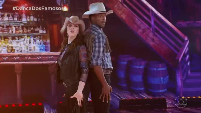 Bia Arantes e Jefferson Bilisco se apresentam no ritmo do country na Dança dos Famosos 2018 (21.10.2018)