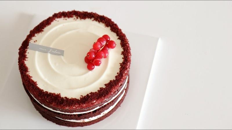 노색소 레드벨벳 케이크 만들기 How to make red velvet cake without food coloring 자도르