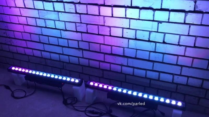 Светодиодный прожектор линейного типа 18*10вт RGBWA