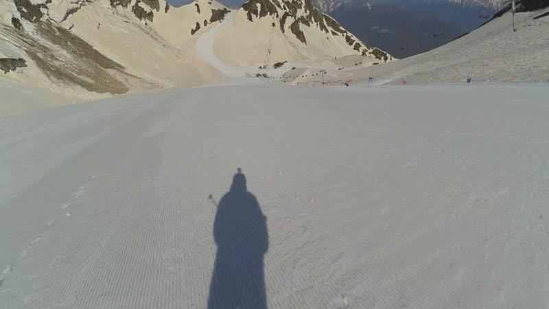 Сочи весна 2018 лыжи Горки Город 100км в час с горы