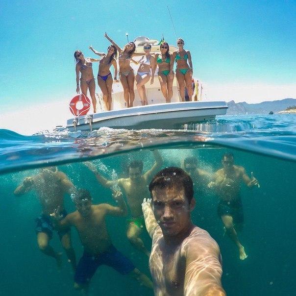 Парень знает толк в подводных фотографиях