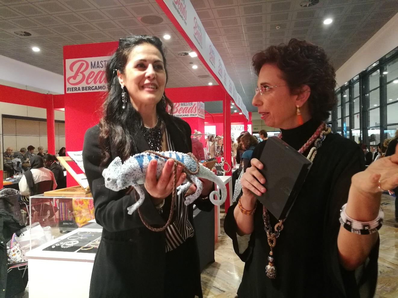 Выставки: Выставка Creattiva, Master Beads. Италия, Бергамо.