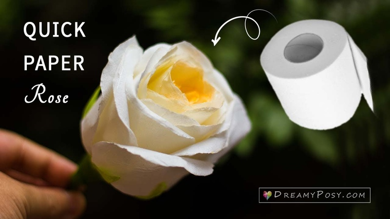 Quick way to make paper rose from toilet paper