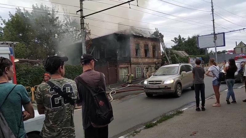 Пожар в доме На Большой Горной у моста Саратов_Энгельс